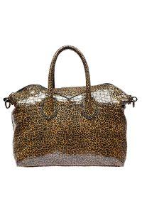 Леопардовая сумка с мелкими пятнами