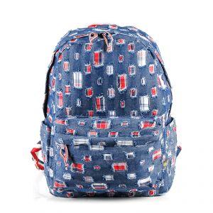 Рюкзак молодежный 1130115329_51; полиэстер; синий