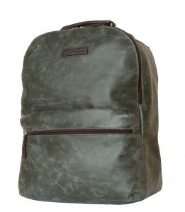 Кожаный рюкзак для ноутбука Carlo Gattini Tellaro green/brown