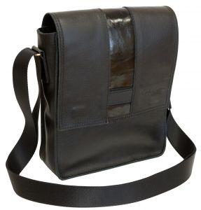 Кожаная мужская сумка Carlo Gattini Varese black