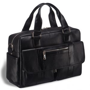 Вместительная сумка для документов BRIALDI King (Кинг) relief black