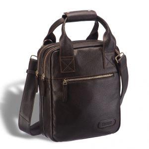Кожаная сумка через плечо BRIALDI Valbona (Вальбона) relief brown